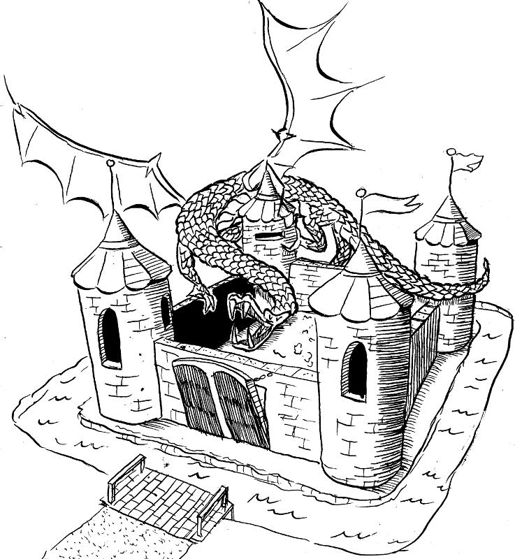 Piirretty Lohikäärme